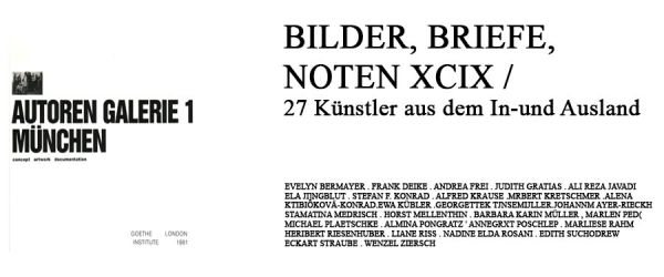 BILDER, BRIEFE, NOTEN XCIX